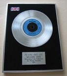 PETERS AND LEE - WELCOME HOME PLATINUM single presentation DISC